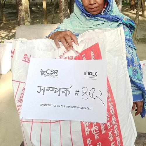 CSR Window Bangladesh donating food in Gopalpur Bangladesh