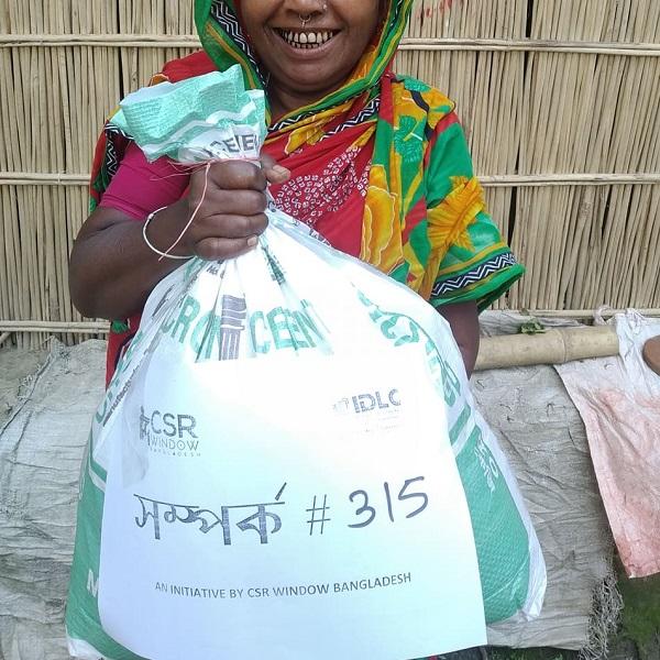 CSR Window Bangladesh donating food in Sariatpur Bangladesh