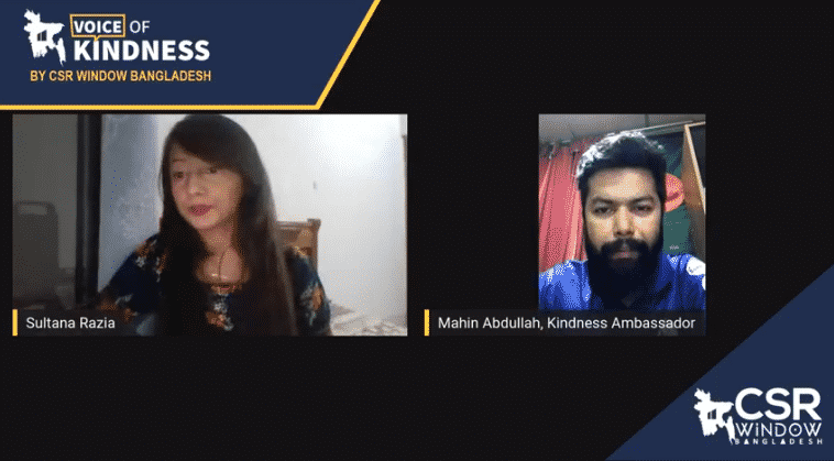 Voice of Kindness (VoK) Ep#1: Mahin Abdullah | CSR Window Bangladesh