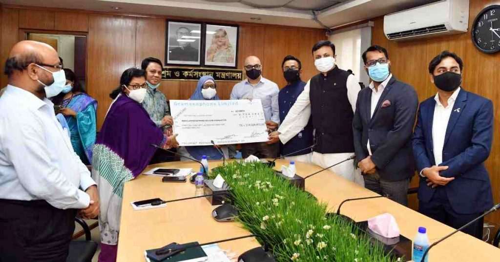 Grameenphone donates Tk 3.14 crores to Labour Fund